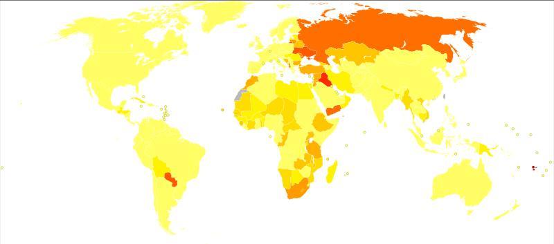 Epidemiologie des Iodmangels Karte