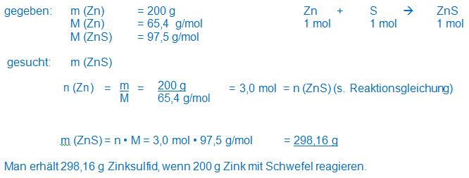 reagiert alu mit zink