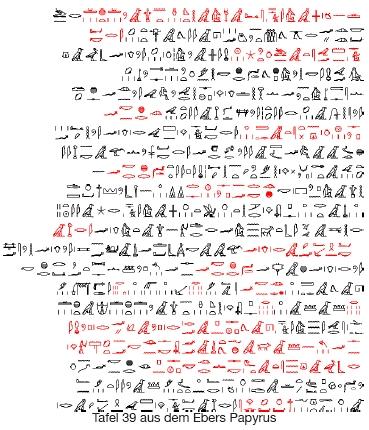 Ebers Papyrus, Tafel 39