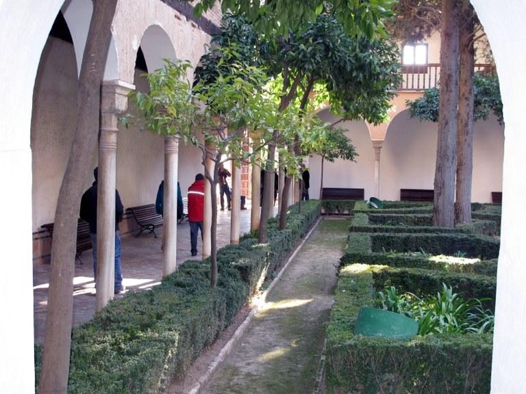 Innenhof:  Alhambra, Granada, Spanien