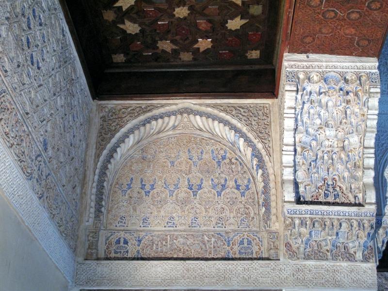 Stuckdecke: Alhambra, Granada, Spanien