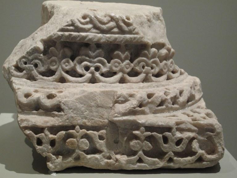 Säulenkapitell: Alcazaba, Almeria, Spanien