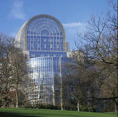 Das Gebäude des Europäischen Parlaments in Brüssel.