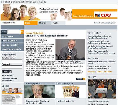 Website der CDU