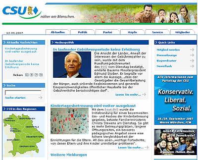 Website der CSU