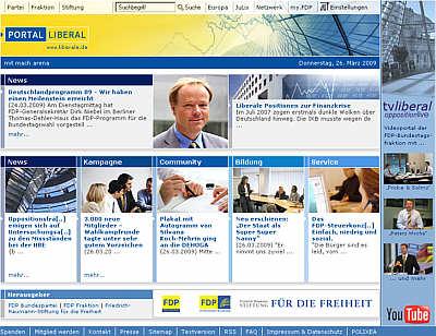 Website der FDP