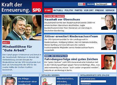 Website der SPD