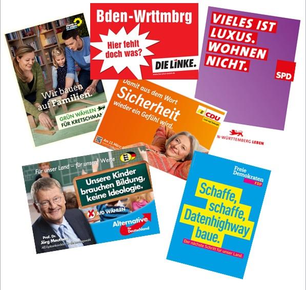 Analyse von Wahlplakaten — Landesbildungsserver Baden-Württemberg