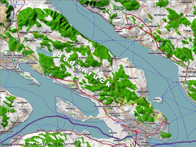 Karte Bodanrück