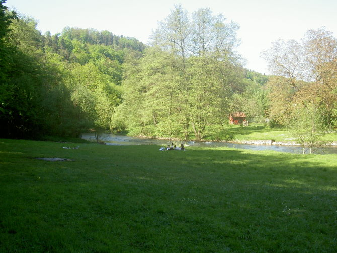 Talsohle: Flussaue