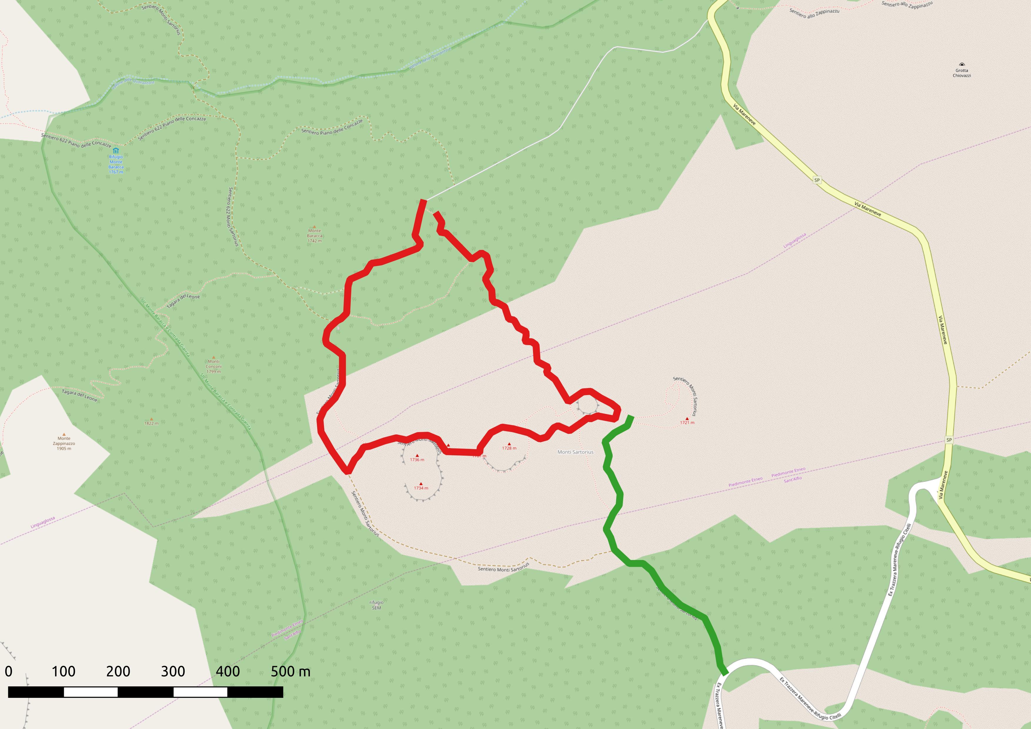 Wanderung zu den Monti Sartorius