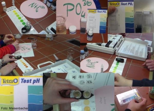 Collage - chemische Wasseranalysen