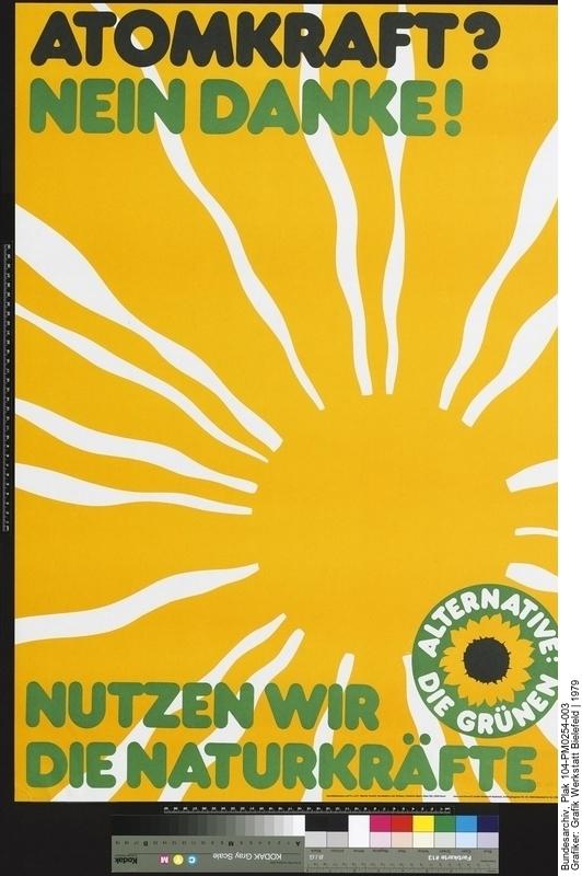 Plakat der Grünen zur Europawahl 1979