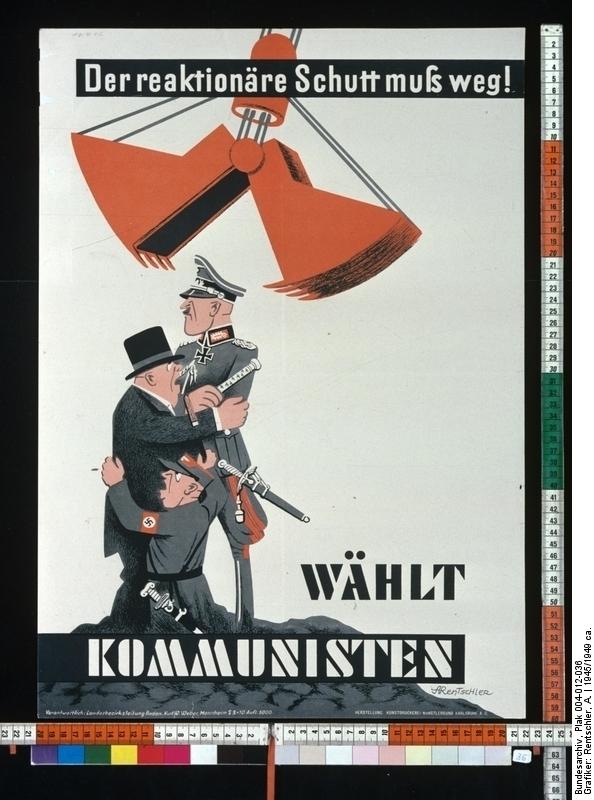Der reaktionäre Schutt muß weg: Wählt Kommunisten!