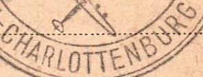 Detail Stempel Carlottenburg