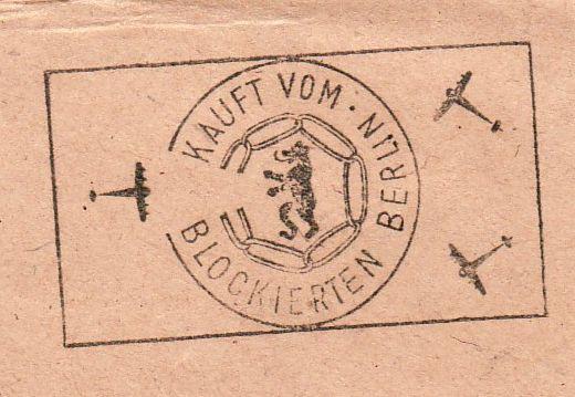 Stempel: Kauft vom blockierten Berlin