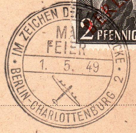 Stempel: Maifeier 1949