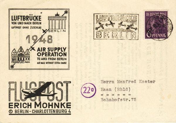 Luftpost ohne Zuschlag