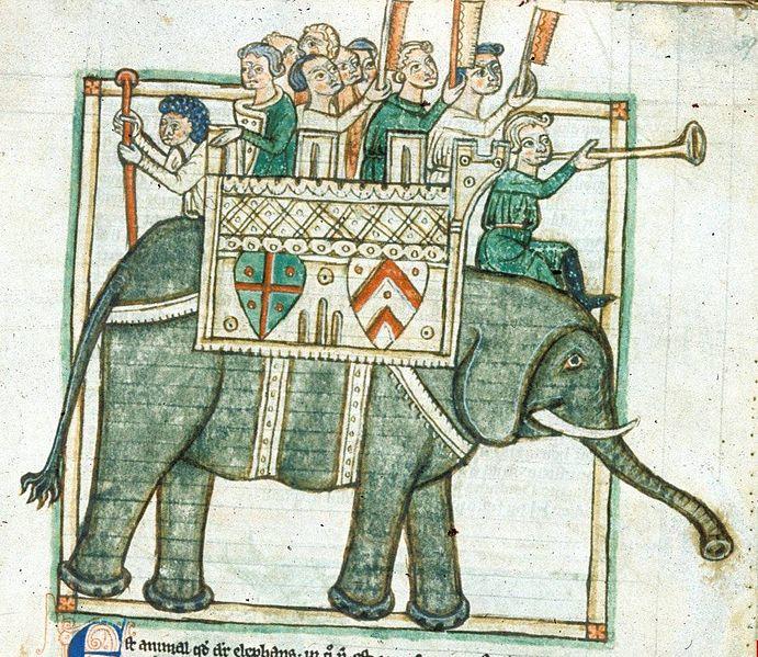 Kriegselefant (British Library, 13. Jh.)