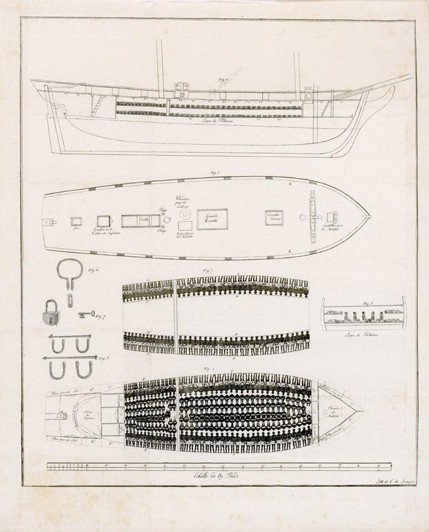 Plan des Sklavenschiffs Vigilante (1822)