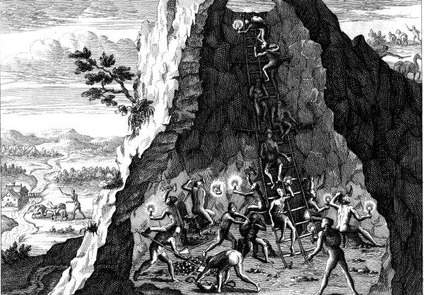 Bergbau in Potosi, 1596