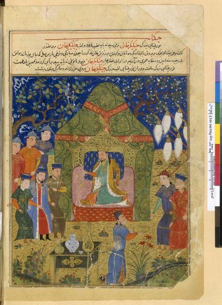 Dschingis Khan mit seinen Söhnen Dschochi und Ögödei