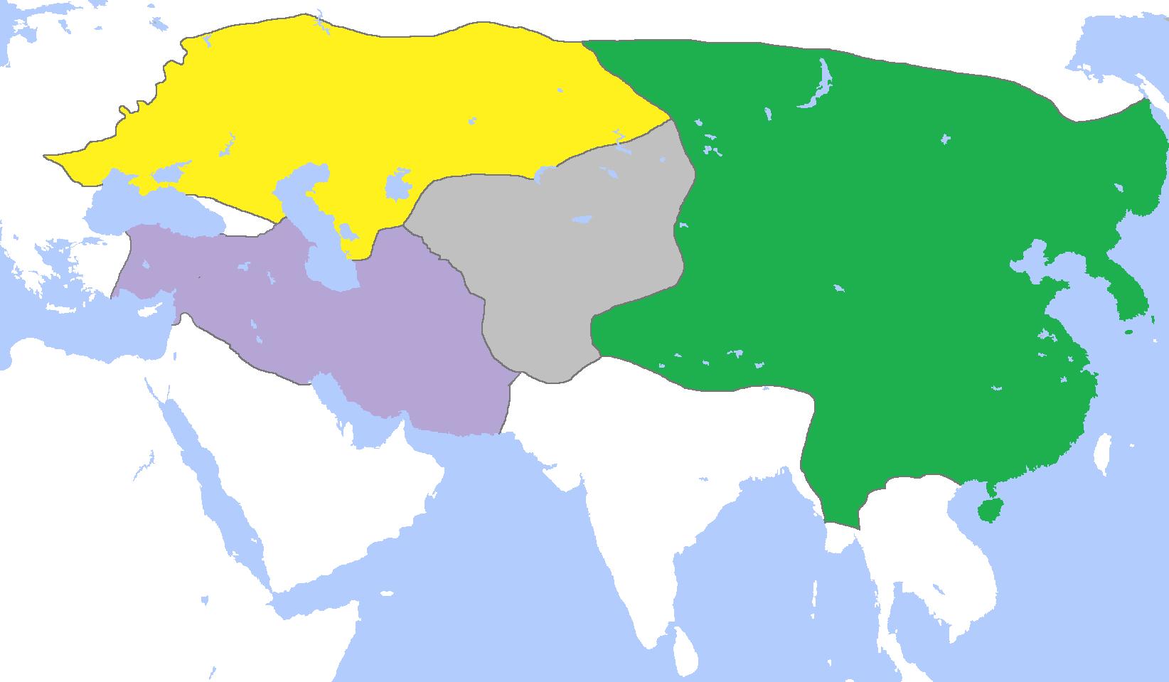 M 7 Karte zum Mongolischen Reich ca. 1300