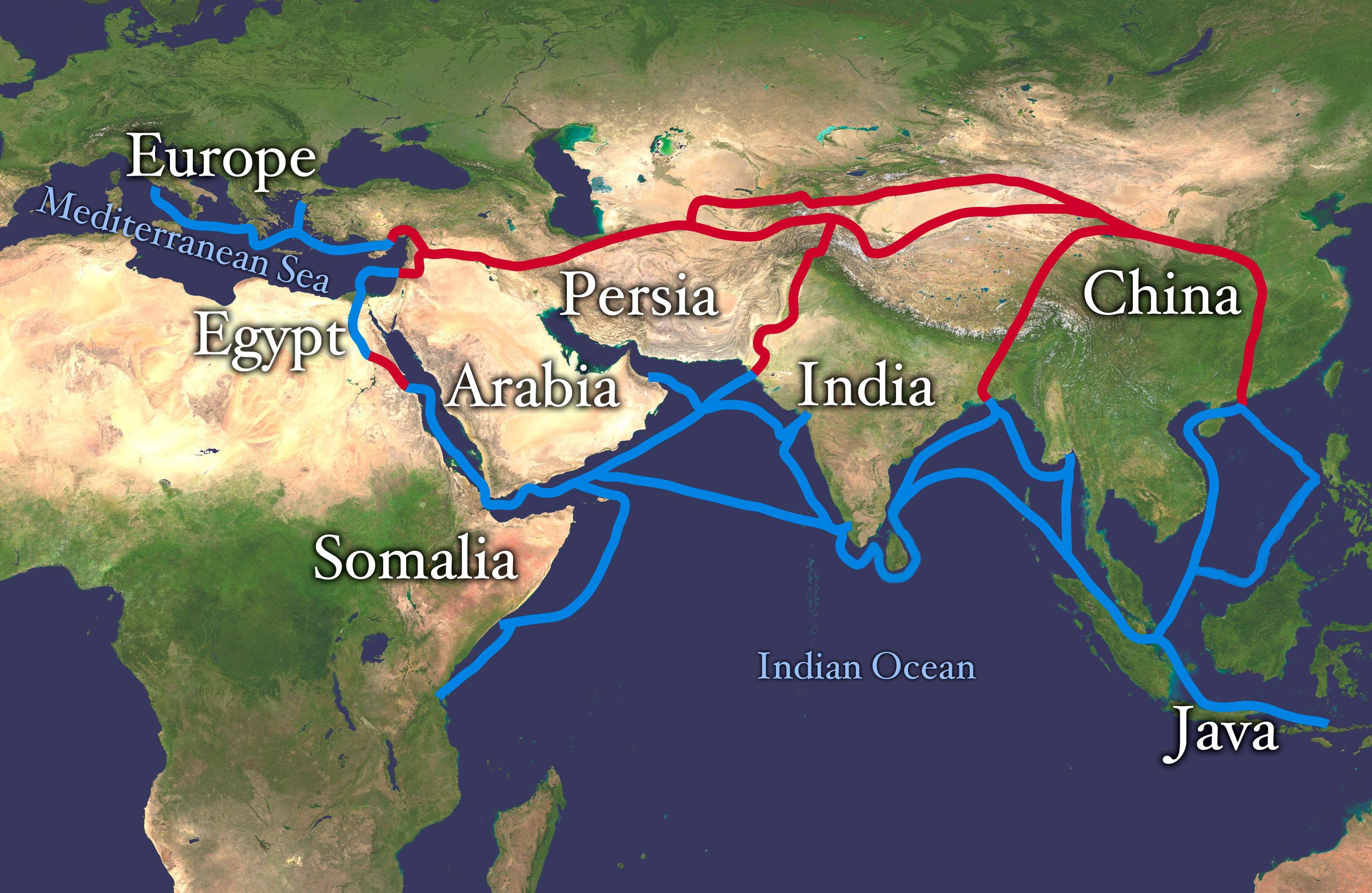 M 6 Karte: See- und Landhandel