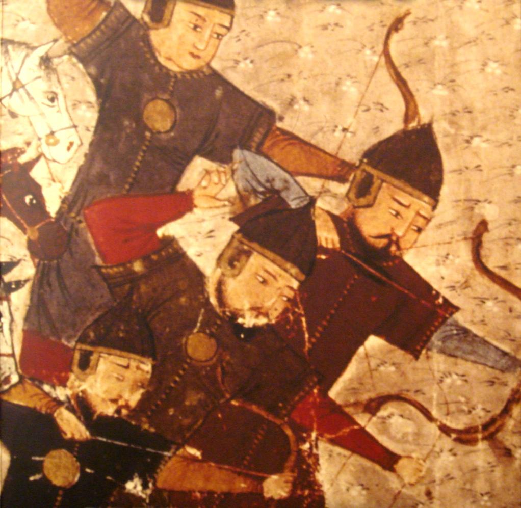 Mongolischer Kavallerieangriff aus der Sicht des Persers Rashid al-Din in seiner Weltchronik von 1305