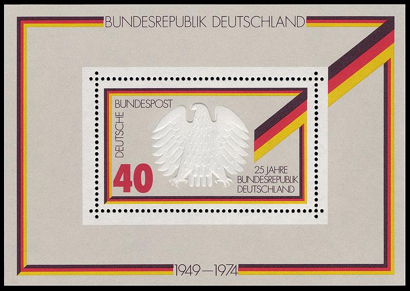 Briefmarke anlässlich des 25-jährigen Bestehens der Bundesrepublik