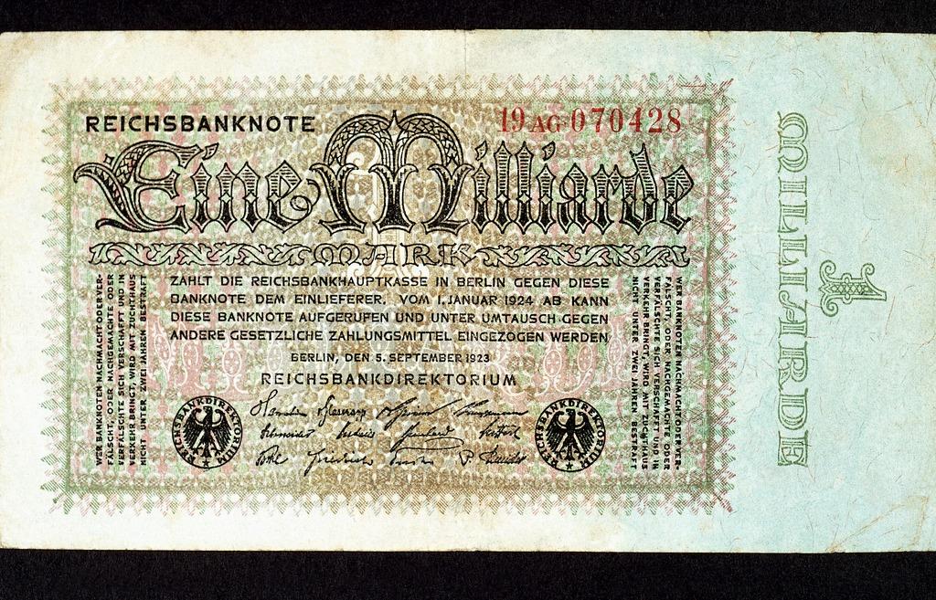Reichsbanknote 1 Milliarde 1923