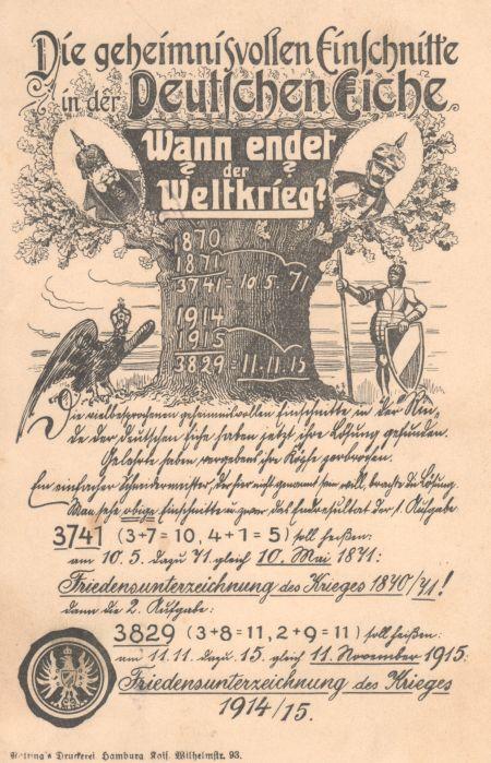 Die geheimnisvollen Einschnitte in der deutschen Eiche
