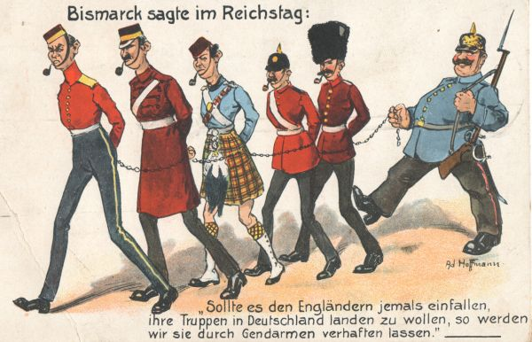 Propagandapostkarte aus dem 1. Weltkrieg