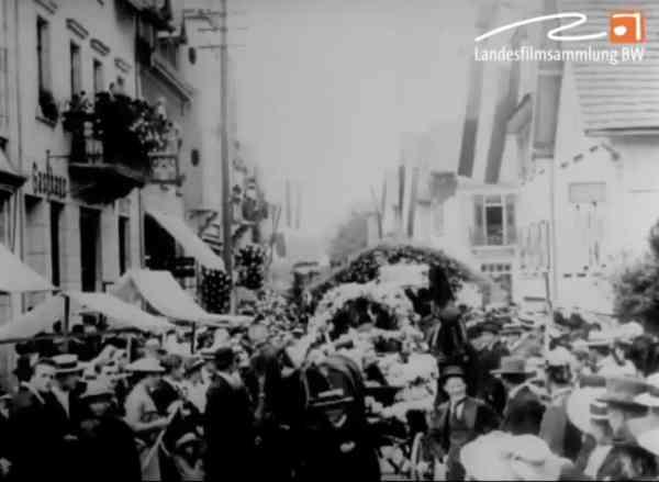 Kinderfest in Gaggenau 1914