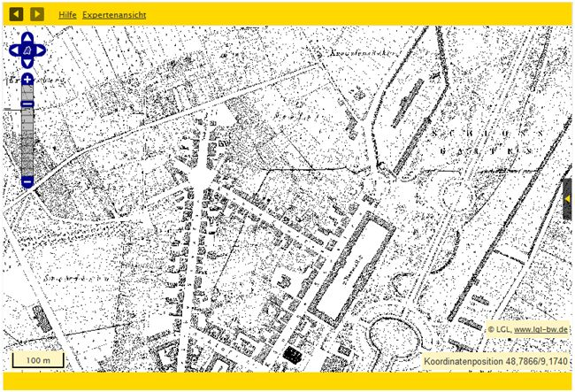 Bsp.: Stuttgart Hauptbahnhof: Flurkarten von 1818/1840