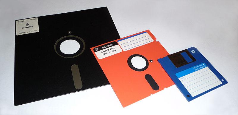 Veraltete Medien: Floppy und Diskette