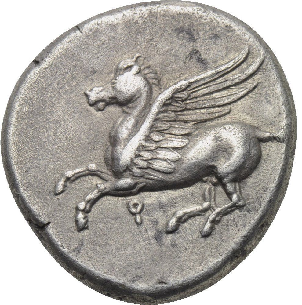 Fliegender Pegasus aus Korinth