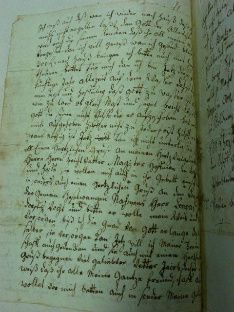 Zweite Seite des Briefes von Christian Bantlen
