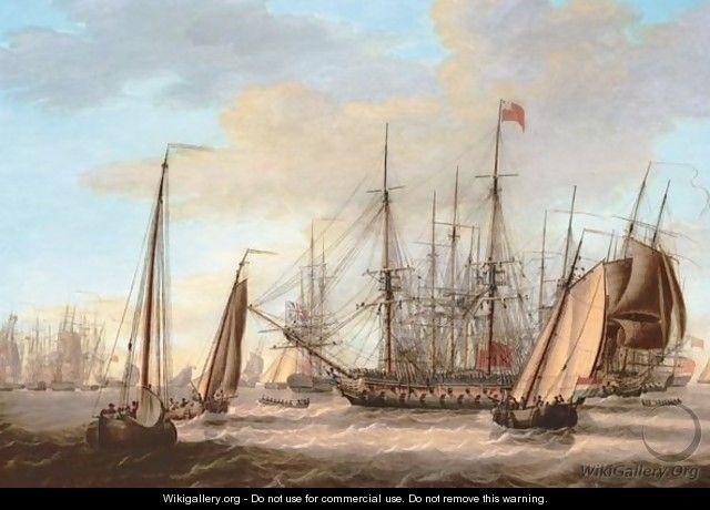 The British Fleet Off The Dutch Coast