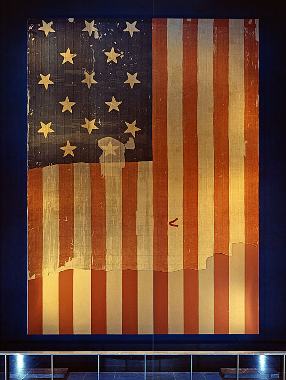 The 15-star, 15-stripe Star Spangled Banner Flag
