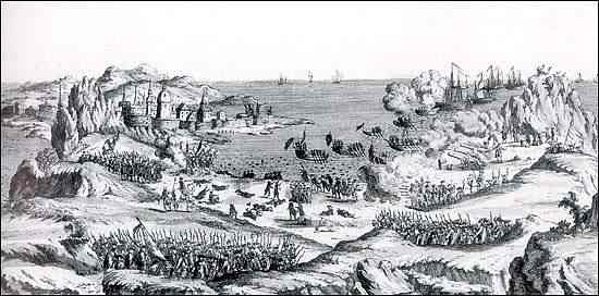 The French attack St. John's, Newfoundland in 1762