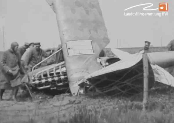 Absturz eines Doppeldeckers 1918