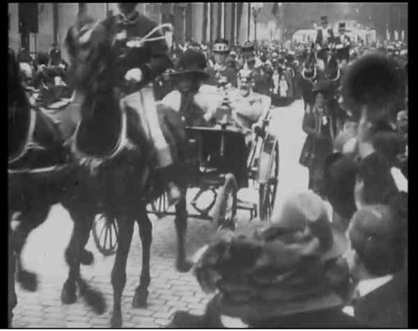 Wagenrundfahrt des Königspaares, Stuttgart 1911