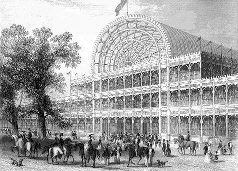Haupteingang des Crystal Palace im Londoner Hyde Park
