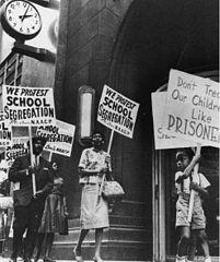 Protestmarsch gegen Segregation