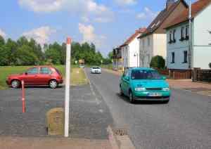 Am Ortsausgang von Wildeck/Obersuhl (Hessen) endete bis 1990 die Straße in Richtung Gerstungen (Thüringen)