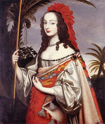 Porträt der Kurfürstin Sophie von der Pfalz als Indianerin