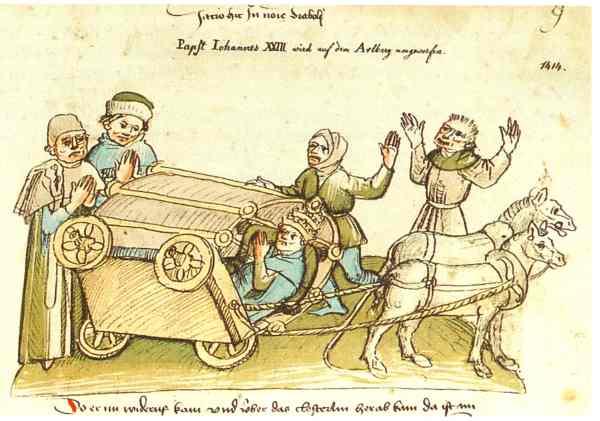 Der Unfall des Papstes bei Ulrich Richental