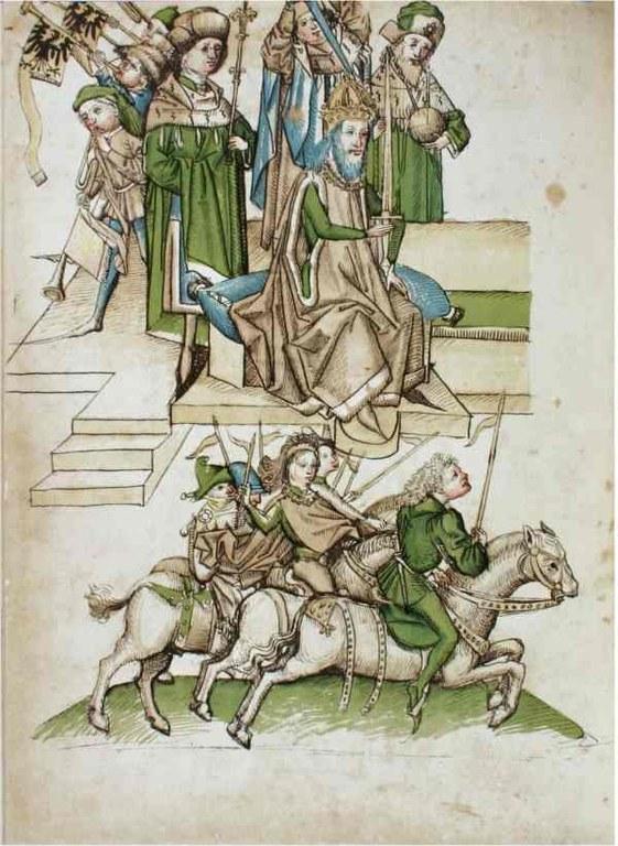 Richental: Belehnung Friedrichs von Hohenzollern mit der Mark Brandenburg