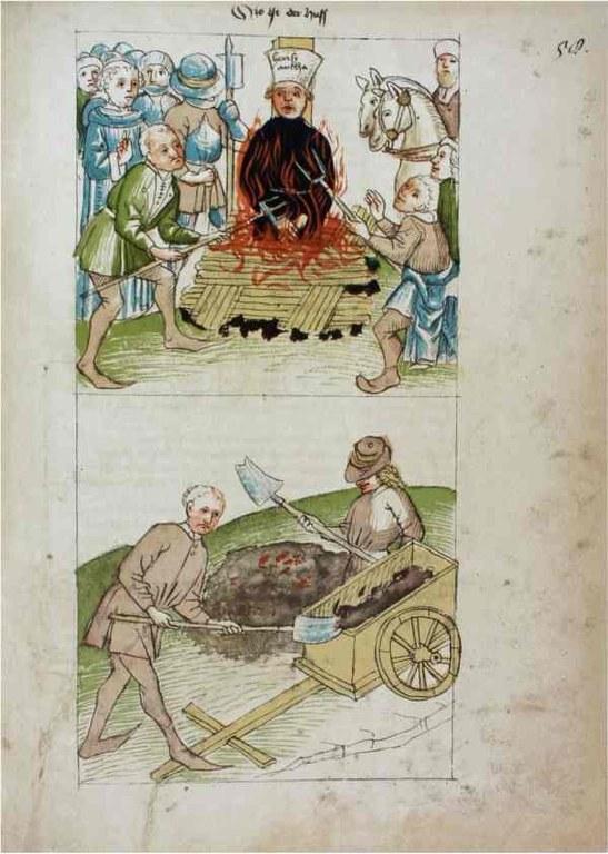 Richental: Verbrennung des Jan Hus